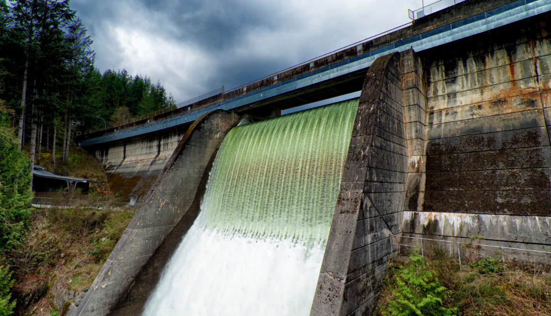Cleveland Dam in North Vancouver BC Canada